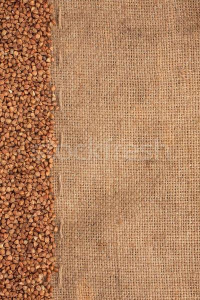 buckwheat lying on sackcloth  Stock photo © alekleks