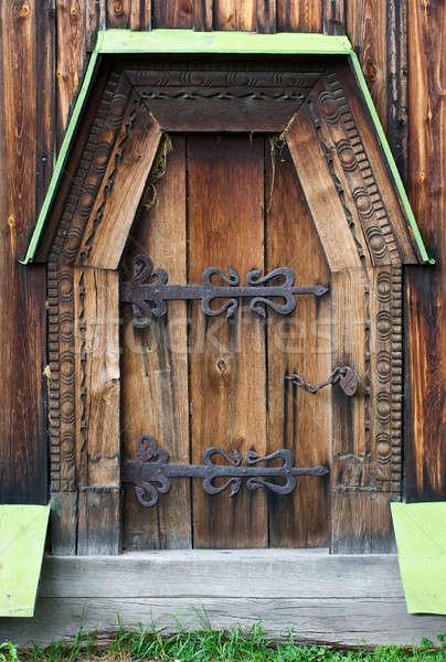 The wooden door  Stock photo © alekleks