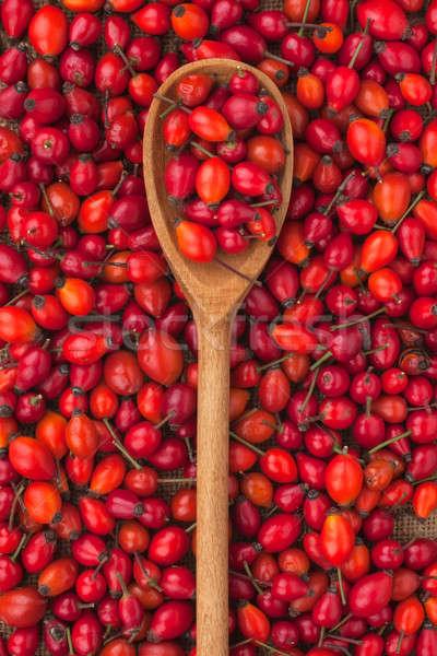 wooden spoon with wild rose  Stock photo © alekleks