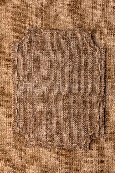 Frame jute plaats textuur abstract Stockfoto © alekleks