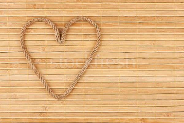 シンボリック 中心 ロープ 竹 抽象的な デザイン ストックフォト © alekleks
