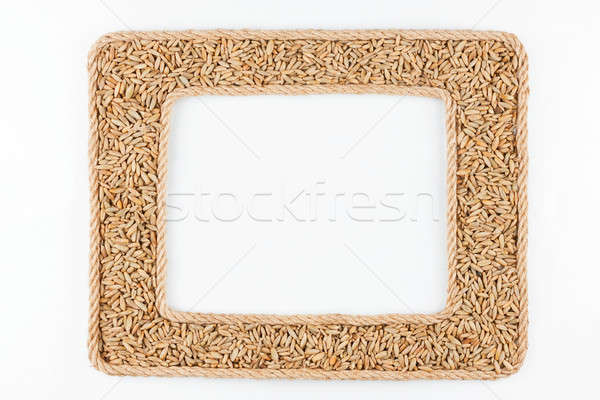 Twee frames touw rogge graan witte Stockfoto © alekleks