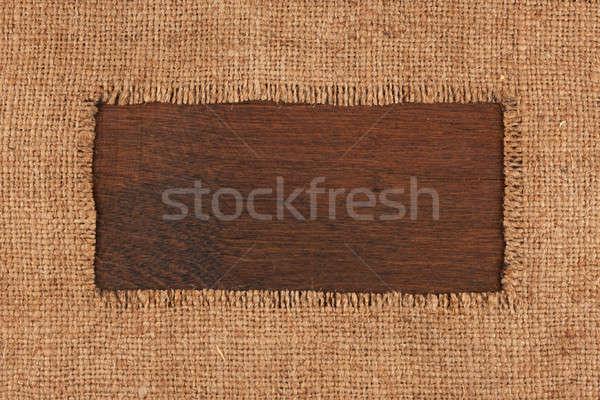 Quadro pano de saco superfície espaço textura Foto stock © alekleks