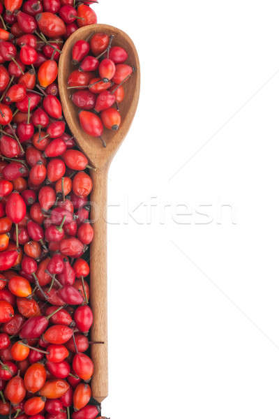 Stock photo: wooden spoon with wild rose