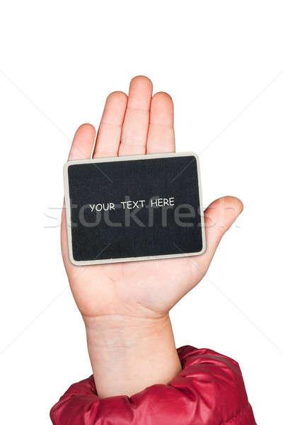 手 スペース 文字 孤立した 白 ビジネス ストックフォト © alekleks