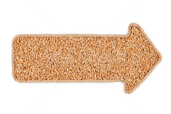 Seta corda trigo branco fundo quadro Foto stock © alekleks