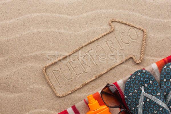 Puerto Rico strand zand partij zee Stockfoto © alekleks