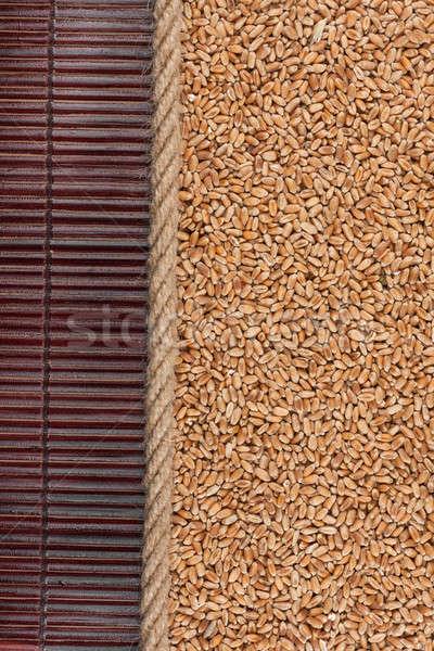 Stockfoto: Tarwe · donkere · bamboe · menu · kan · gebruikt