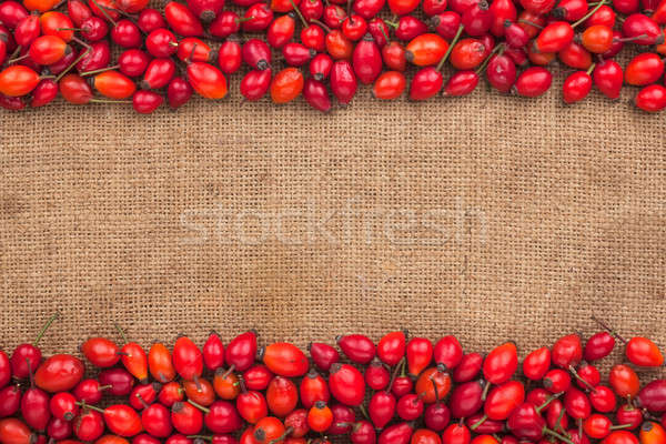 Rosehip lying on sackcloth Stock photo © alekleks