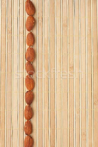 Zenekar mandula bambusz textúra háttér csoport Stock fotó © alekleks