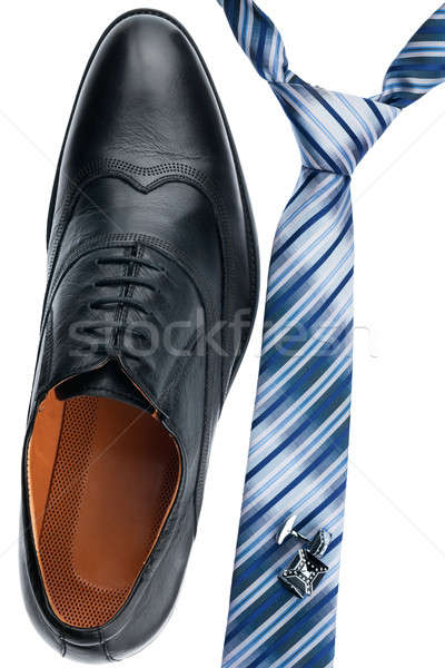 Men's shoes, tie, cufflinks, classic style Stock photo © alekleks