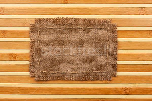 Cadre toile de jute mensonges bambou lieu texture Photo stock © alekleks