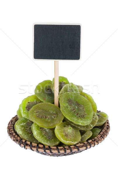 Tas séché kiwi plaque texte isolé Photo stock © alekleks