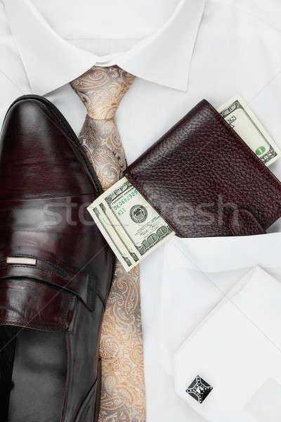 üzlet divat konzerv használt papír textúra Stock fotó © alekleks