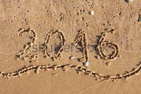 碑文 砂 することができます 中古 水 海 ストックフォト © alekleks