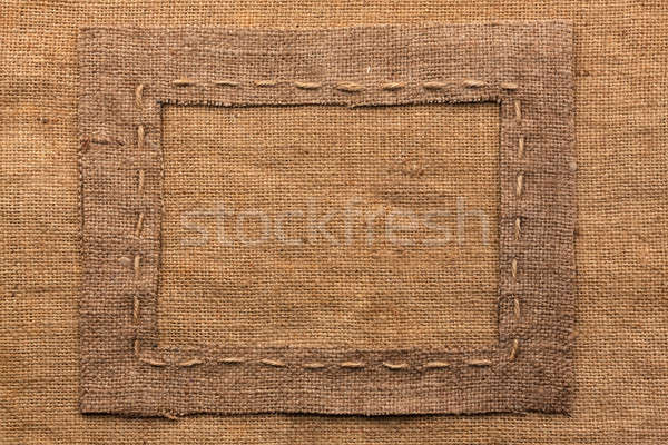 Frame of burlap, lies on a background of burlap Stock photo © alekleks