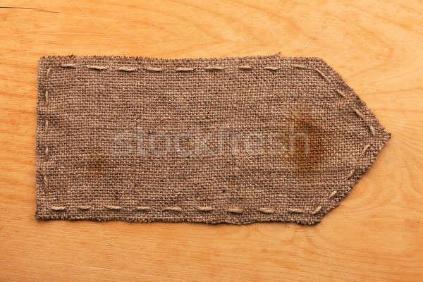 Pano de saco mentiras madeira lugar textura abstrato Foto stock © alekleks