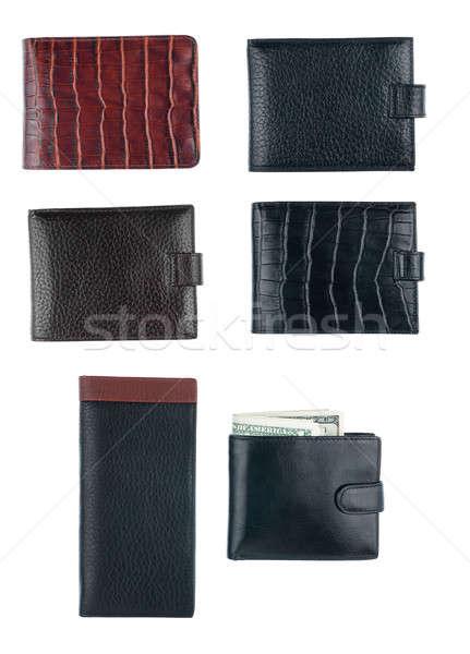 Textura carteira isolado branco fundo compras Foto stock © alekleks