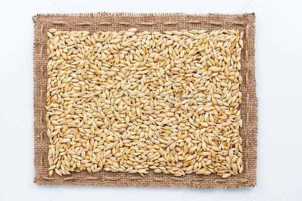 フレーム 黄麻布 大麦 豆 暗い 白 ストックフォト © alekleks