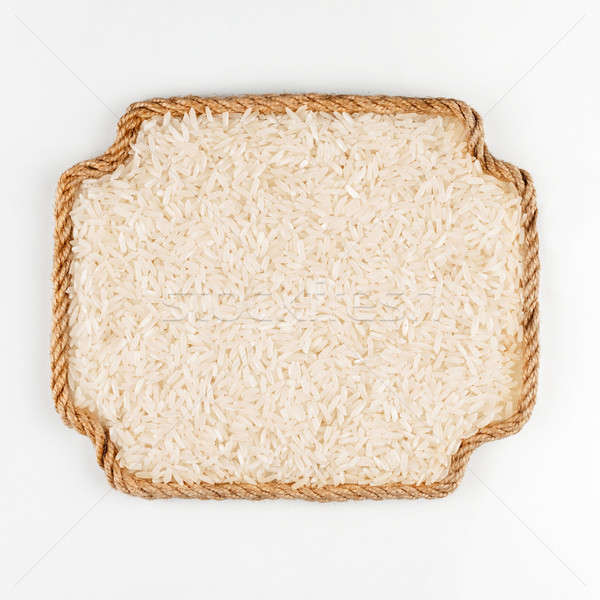 Quadro corda arroz branco lugar texto Foto stock © alekleks