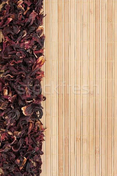 Kurutulmuş ebegümeci bambu uzay metin menü Stok fotoğraf © alekleks
