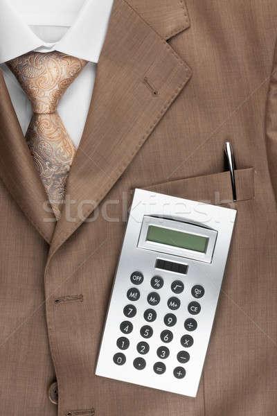 Számológép hazugságok öltöny konzerv használt üzlet Stock fotó © alekleks