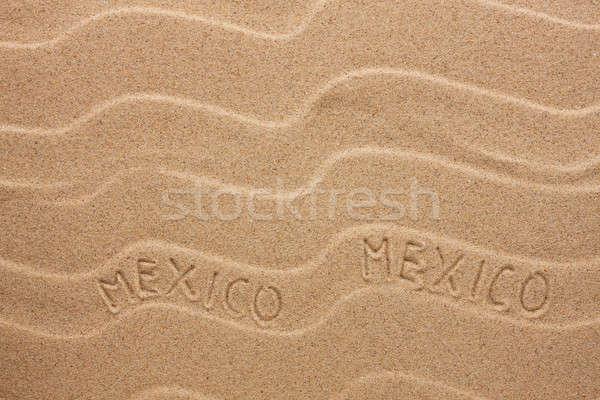 México ondulado areia textura festa Foto stock © alekleks
