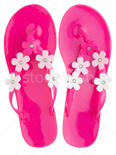 Pink flip flops Stock photo © alekleks