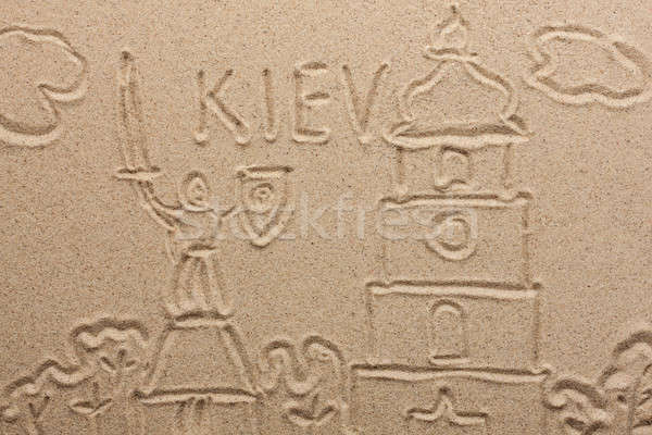 kiev painted by in the sand Stock photo © alekleks