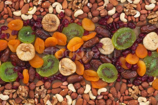 Orzechy suszy owoce konopie żywności projektu Zdjęcia stock © alekleks