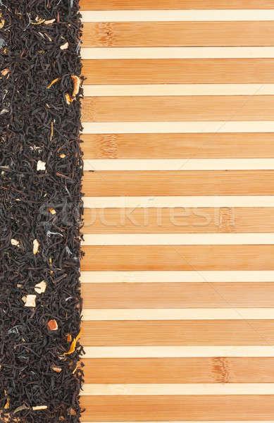 黒 茶 竹 スペース 文字 ストックフォト © alekleks