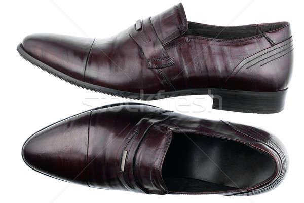 Klassiek bruin schoenen geïsoleerd witte business Stockfoto © alekleks
