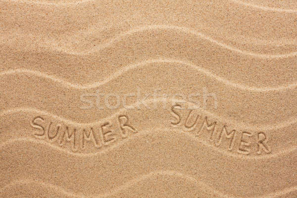 Summer inscription on the wavy sand Stock photo © alekleks
