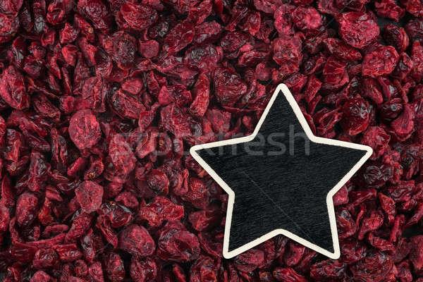 Stock fotó: Csillag · ár · címke · hazugságok · aszalt · áfonya