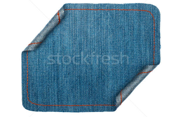 Denim frame folded in the form of manuscripts, on a white background Stock photo © alekleks