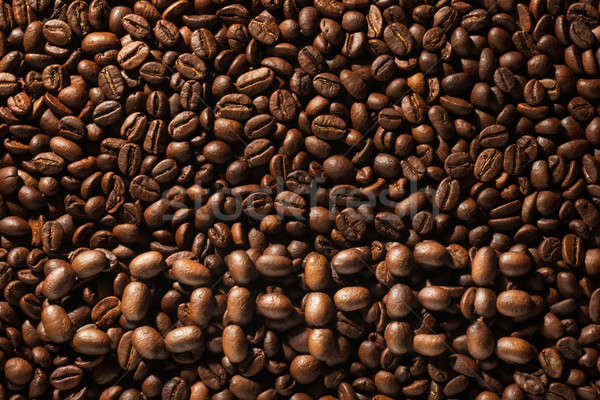 The word coffee laid out on the background from coffee beans Stock photo © alekleks