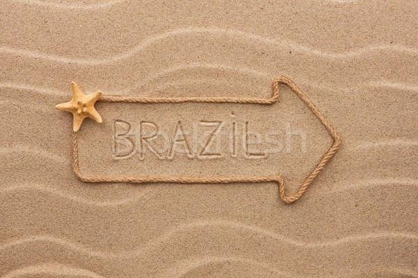 Flèche corde mer obus mot Brésil Photo stock © alekleks