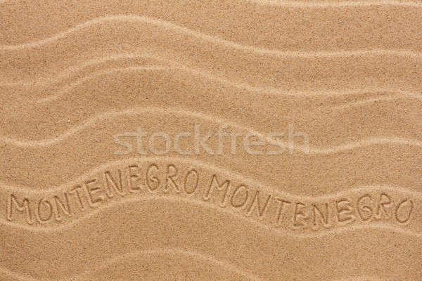 Черногория волнистый песок текстуры вечеринка Сток-фото © alekleks