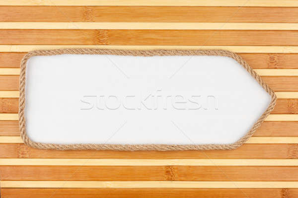 Corda branco bambu lugar madeira projeto Foto stock © alekleks
