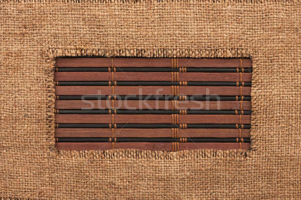 Frame jute bamboe ruimte textuur hout Stockfoto © alekleks