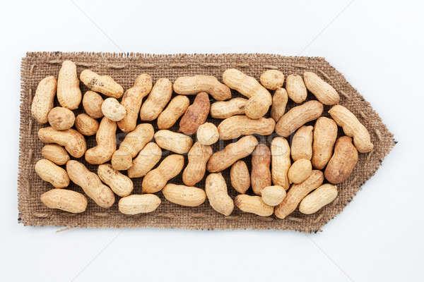 Toile de jute arachide blanche signe rétro sombre Photo stock © alekleks