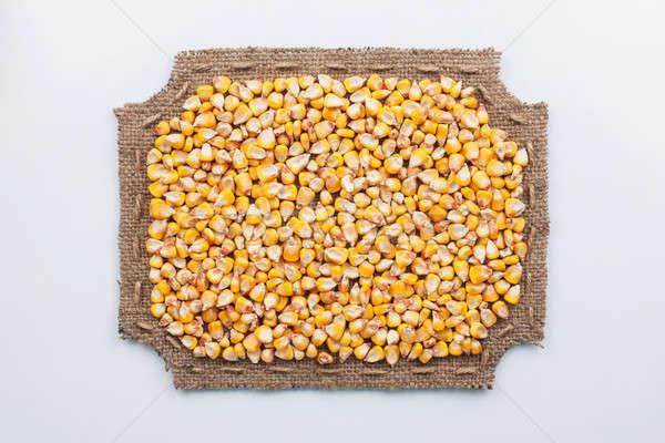 çerçeve çuval bezi mısır yalan beyaz Stok fotoğraf © alekleks