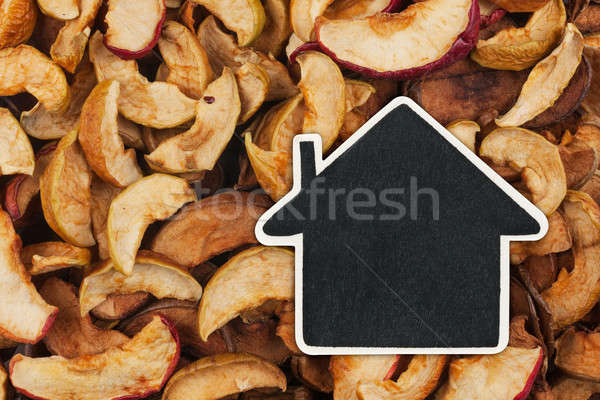 Stockfoto: Huis · prijs · tag · gedroogd · appel