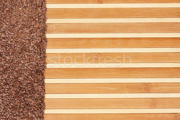 Flax seed  on a light  bamboo mat Stock photo © alekleks