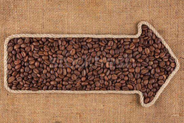 Stock fotó: Kötél · kávé · űr · háttér · felirat · ital