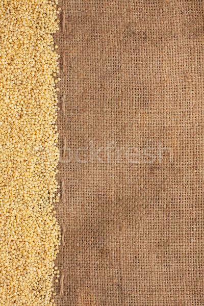 Pano de saco lata usado saco planta agricultura Foto stock © alekleks