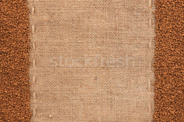 Granulated coffee lying on sackcloth Stock photo © alekleks