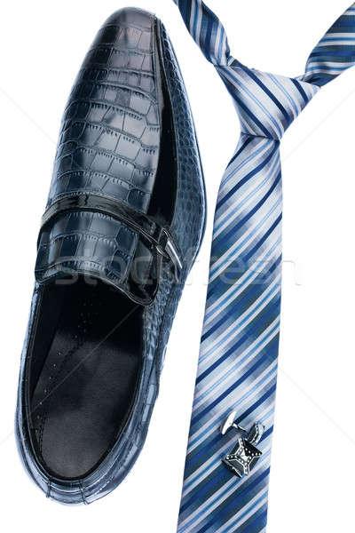 Cipők nyakkendő mandzsettagombok klasszikus stílus izolált Stock fotó © alekleks