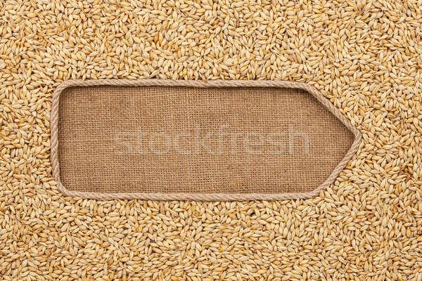 Stok fotoğraf: Halat · arpa · uzay · gıda · arka · plan