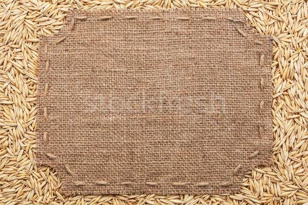 кадр брезент Швы место текста Сток-фото © alekleks